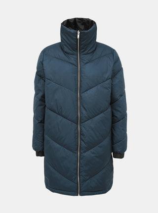 Čierno-petrolejový obojstranný prešívaný zimný kabát ONLY Seanne