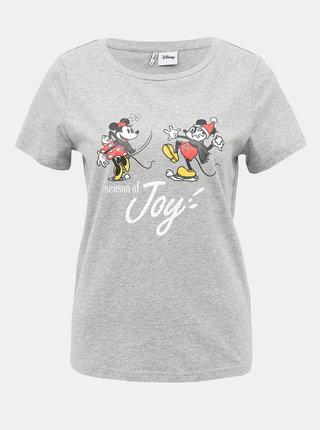 Šedé tričko s potlačou ONLY Disney Mickey Mouse