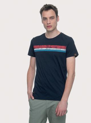 Tmavě modré pánské tričko s potiskem Ragwear Hake