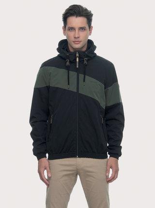 Zeleno-černá pánská funkční lehká bunda Ragwear Hugg