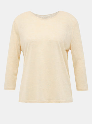Krémové tričko s krajkou na zádech Jacqueline de Yong Petra