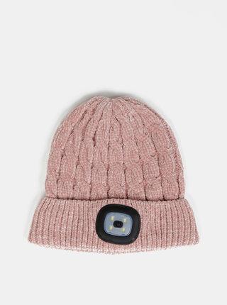 Rúžová dámska čapica so svetlom Something Special