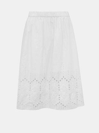 Bílá sukně s madeirou Jacqueline de Yong Sweety