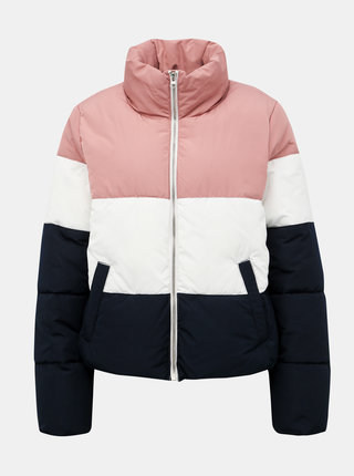Modro-růžová prošívaná zimní bunda Jacqueline de Yong Erica