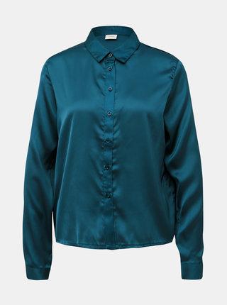 Tmavozelená saténová košeľa Jacqueline de Yong Fifi