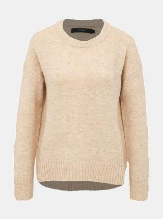 Béžový basic sveter VERO MODA Kizzi