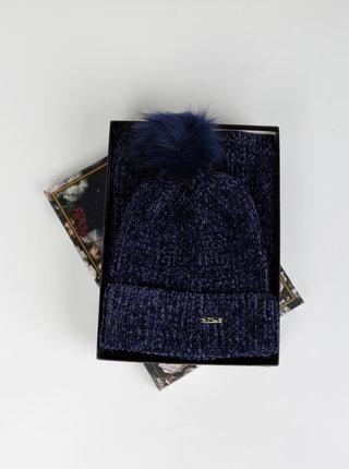Sada tmavě modré čepice a šály Something Special