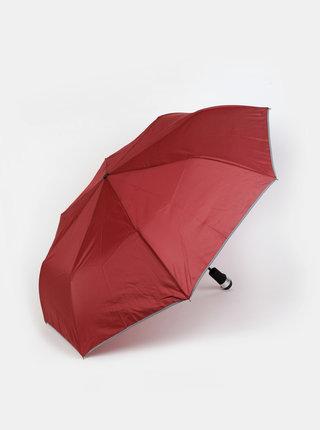 Vínový skládací vystřelovací deštník se světlem Something Special