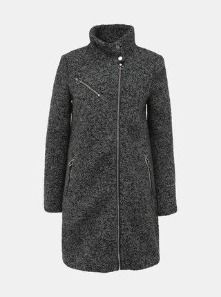 Šedý vlněný kabát VERO MODA Darling