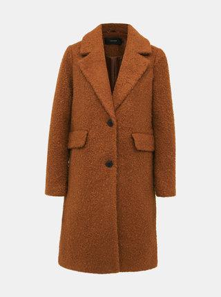 Hnědý kabát VERO MODA Diana
