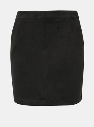 Černá sukně v semišové úpravě VERO MODA Donna