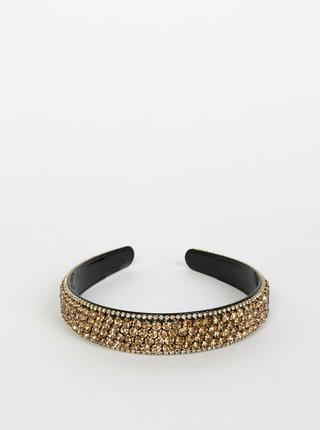 Čelenka s kamienkami v zlatej farbe VERO MODA Crystal