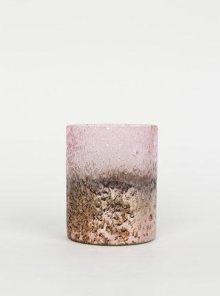 Růžový svícen BUTLERS