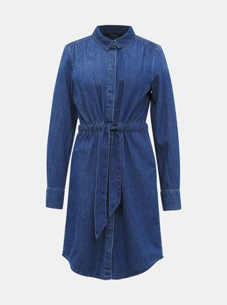 Modré džínové košilové šaty VERO MODA Rachel