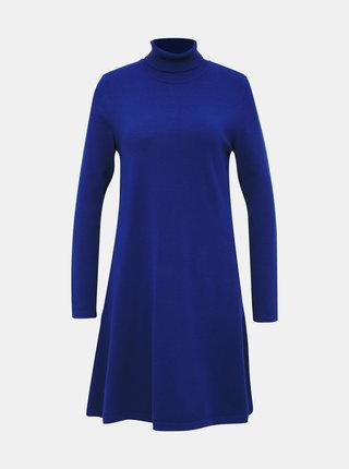 Modré svetrové šaty VERO MODA Happy