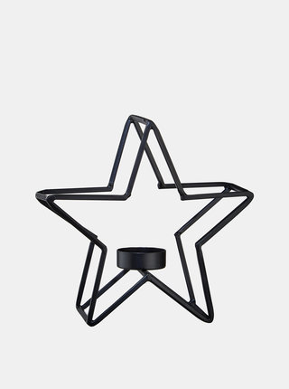 Černý svícen v tvaru hvězdy BUTLERS