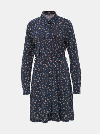 Tmavě modré vzorované šaty VERO MODA Toka