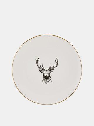 Biely tanier s potlačou BUTLERS