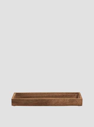 Hnědý dřevěný tác BUTLERS