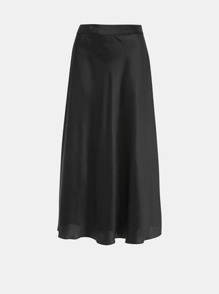 Černá saténová maxi sukně VERO MODA Christas