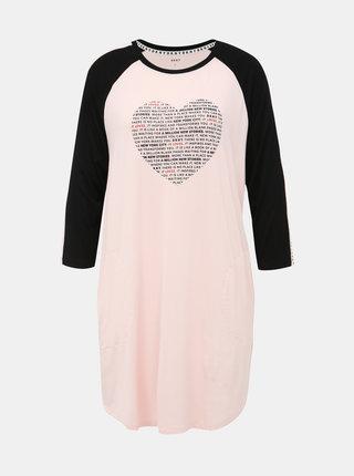Růžová noční košile DKNY
