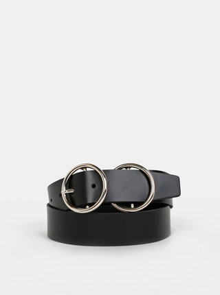 Černý kožený pásek VERO MODA Lina