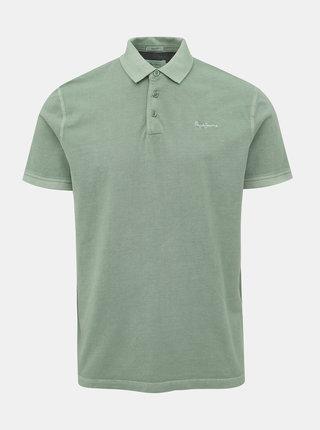 Světle zelené pánské polo tričko Pepe Jeans Roco