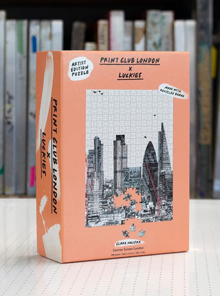 Puzzle s motivem Londýna Luckies Sunrise Sunset London 500