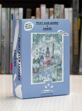 Puzzle s motivem měst Luckies London, Paris, Brussels 500