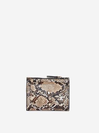 Béžová peněženka s hadím vzorem Dorothy Perkins