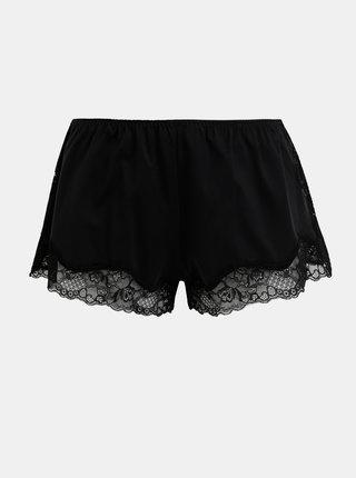 Černé pyžamové kraťasy s krajkou Maidenform