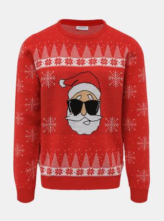 Červený svetr s vánočním motivem Lindbergh