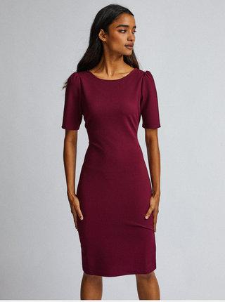Vínové pouzdrové šaty Dorothy Perkins Petite