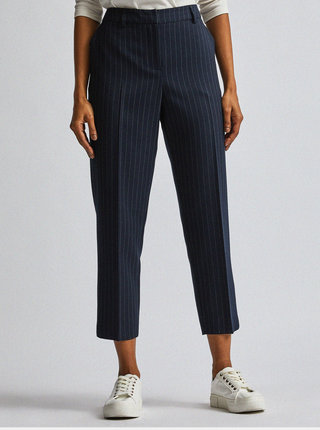 Tmavomodré pruhované tapered fit nohavice Dorothy Perkins Petite