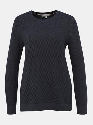 Tmavomodrý dámsky sveter Tommy Hilfiger