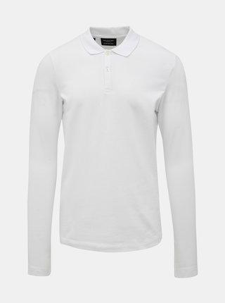 Bílé basic polo tričko Selected Homme Milano