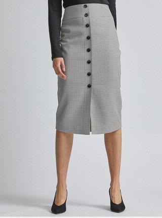 Svetlošedá vzorovaná púzdrová sukňa Dorothy Perkins