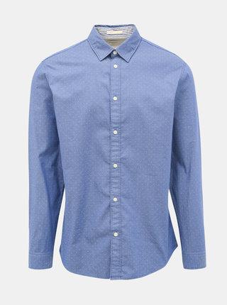 Modrá vzorovaná slim fit košile Selected Homme Harper