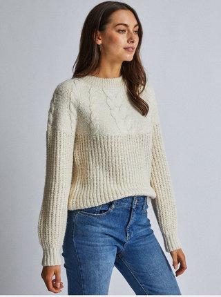 Krémový sveter s metalickými vláknami Dorothy Perkins