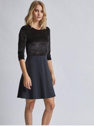 Černé sametové šaty Dorothy Perkins