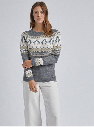 Šedý sveter s vianočným motívom Dorothy Perkins