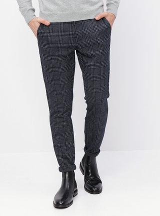 Modro-šedé kostkované kalhoty ONLY & SONS Mark