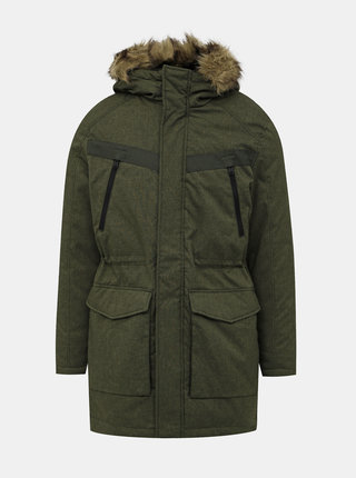Kaki vodeodpudivá zimná parka Jack & Jones Earth