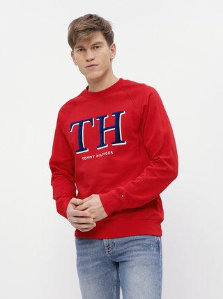 Červená pánska mikina Tommy Hilfiger Monogram