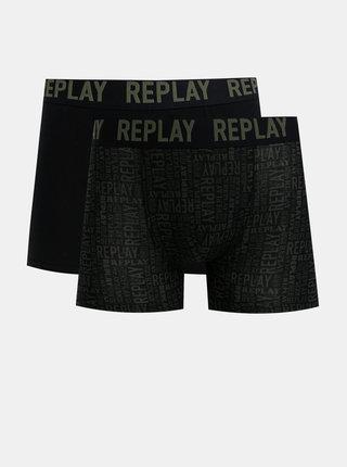 Sada dvou boxerek v černé barvě Replay