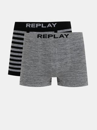 Sada dvou šedých boxerek Replay
