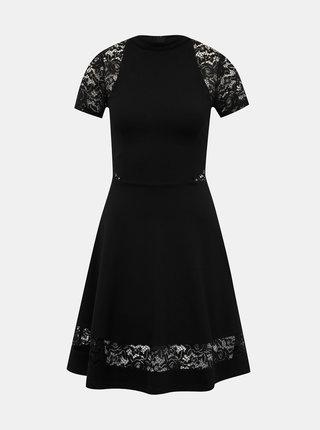 Černé šaty s krajkou TALLY WEiJL Peoli