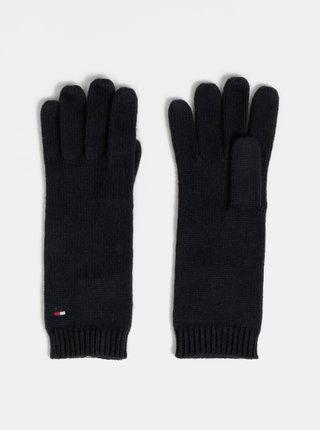 Tmavomodré dámske rukavice s prímesou vlny Tommy Hilfiger