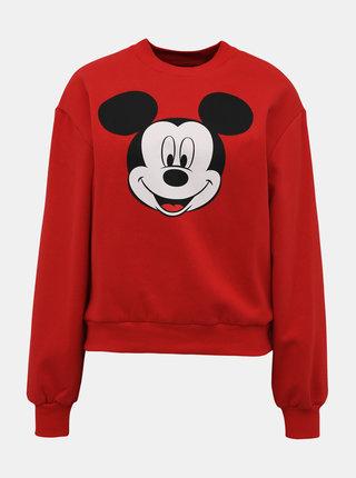 Červená mikina s potlačou TALLY WEiJL Disney Mickey