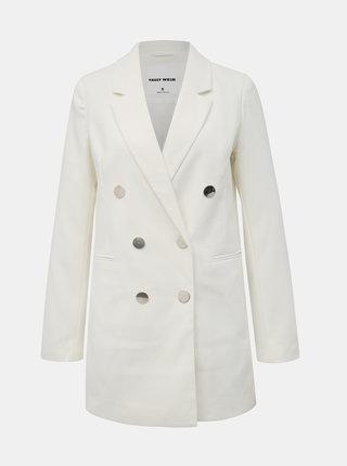 Bílé dlouhé sako TALLY WEiJL Fisel